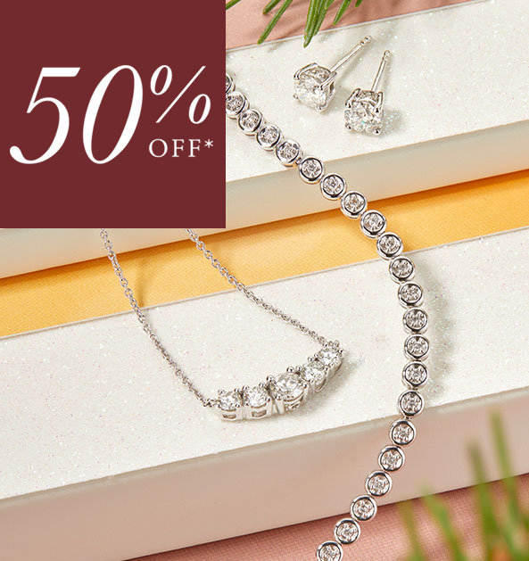 50% Off 18ct Gold Diamond Gift Collection
