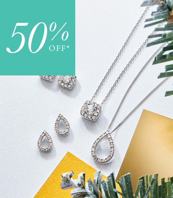 50% Off 9ct Gold Diamond Gift Collection
