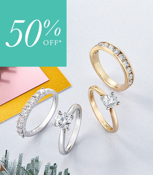 50% Off Diamond Ring Collection