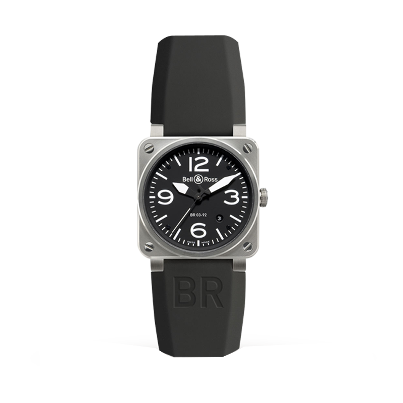 Bell & Ross BR03-92 Black Steel Mens Watch