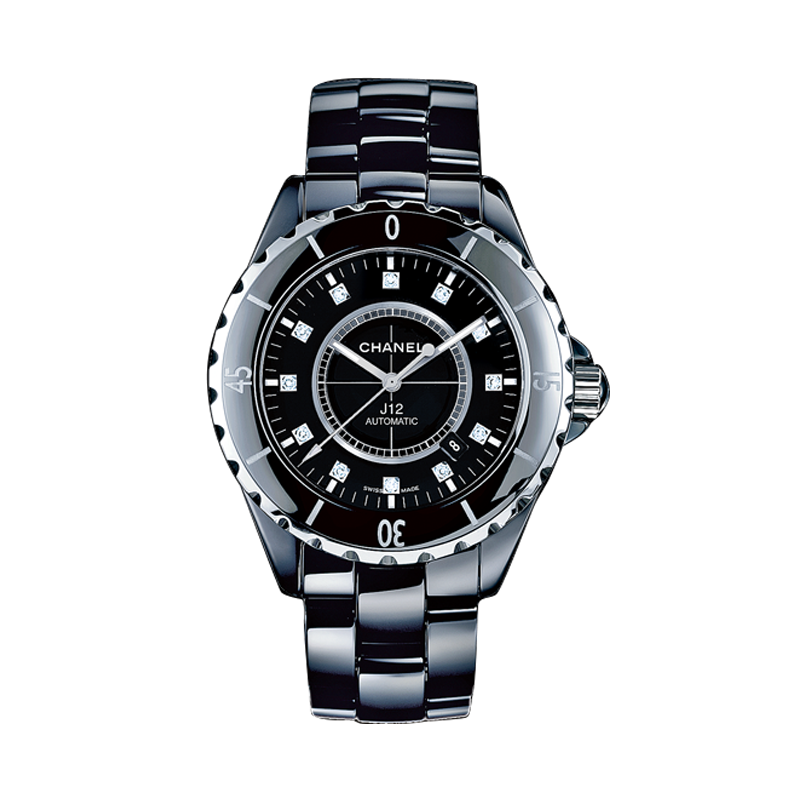 CHANEL  J12 Black Ceramic and Steel Watch